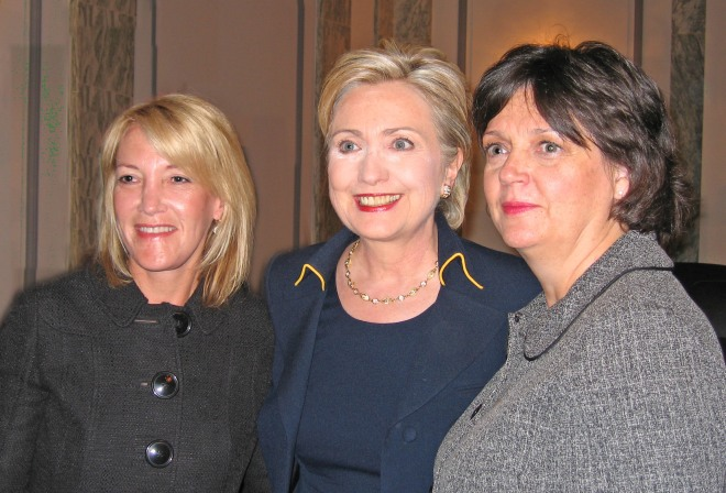 Jill Levy-Fisch. Senator Clinton and Micki Gartzke Save Babies Through Screening Foundation VP
