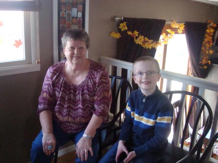 Liam with his Grandma Karen on his favorite holiday - Thanksgiving!