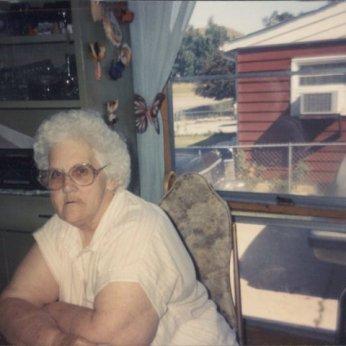 My grandma Della in her mid-sixties