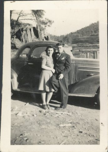 My Grandparents, both 19, on their wedding day